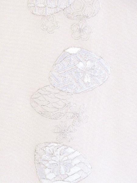 [全品10%OFFクーポン配布]蛤 刺繍半衿 / 正絹 / 袷用 / 薄紫地×銀糸 / 半襟