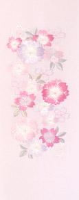 33001A 春爛漫 刺繍半衿 / ポリエステル / 袷用 / 半襟