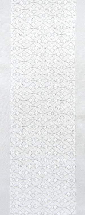 七宝文 刺繍半衿 / 正絹・塩瀬 / 袷用 / 白地×白糸 / 半襟
