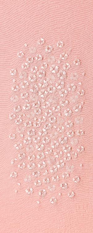小桜ちらし 刺繍半衿 正絹 品質検査済 ブランド買うならブランドオフ 明雲 袷用 ピンク地 35001C 半襟