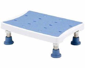 代引不可 マキライフテック マキライフテック 浴槽台アシスト(台座) 2段階 ライトブルー YAS-L01LB