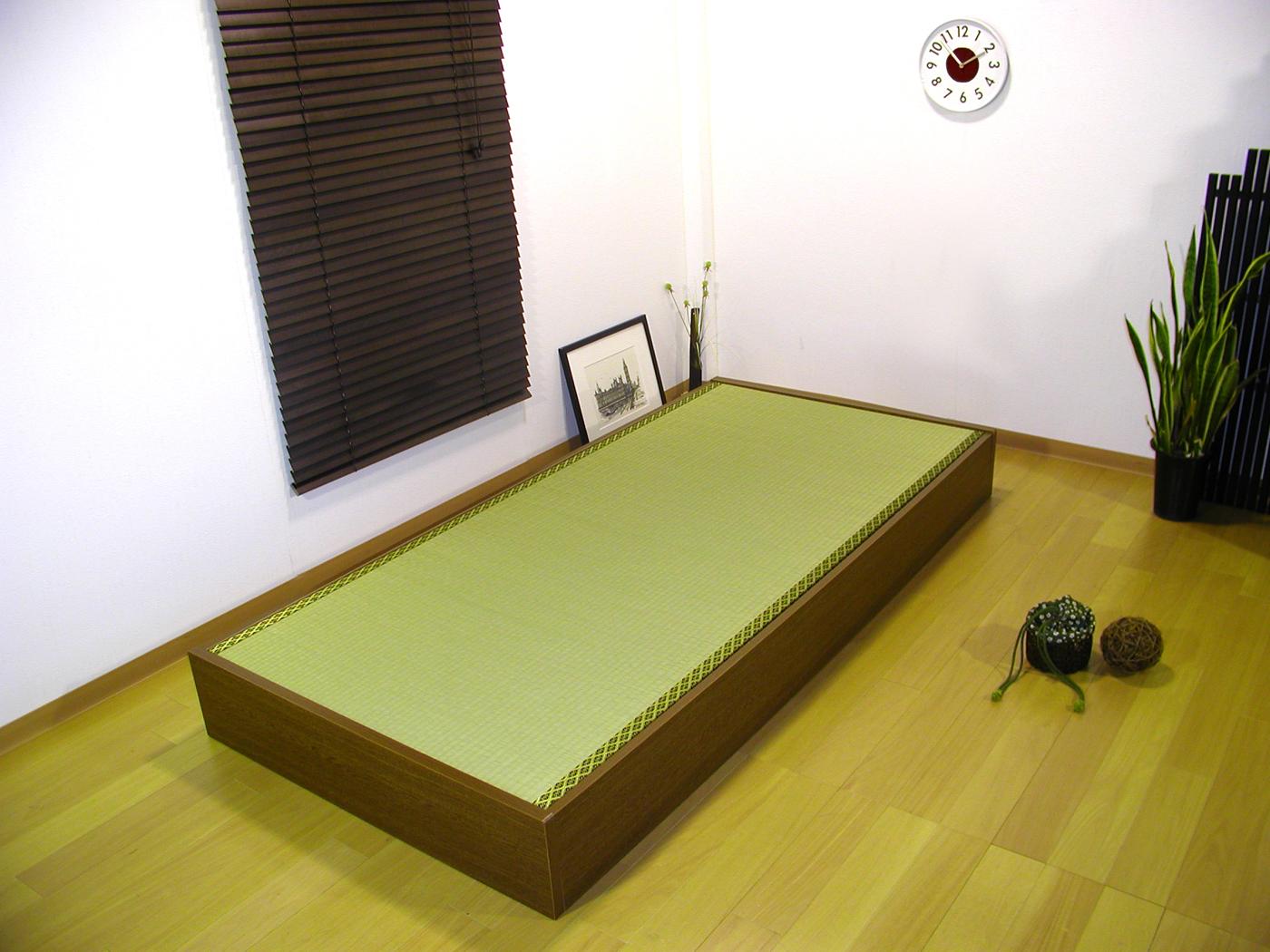 セミシングルサイズ友澤木工 日本製畳 ベッド ヘッドレス収納畳ベッド畳ベッド D-62