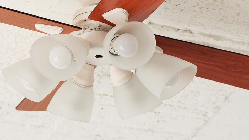 6灯ライト《plus more》プラスモア シーリングファン 6灯ライトWindouble 6L リモコン付き 白熱電球・電球型蛍光ランプ対応デザイン照明 ホワイトBIG-102
