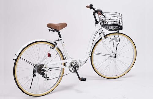 新商品4月下旬入荷26インチ 折り畳み自転車軽量設計 低床フレームMyPallas マイパラス6段変速付き シティサイクルM-509 PRINTEMPSホワイト色, ハッピーフィール:374cf8a0 --- krianta.com