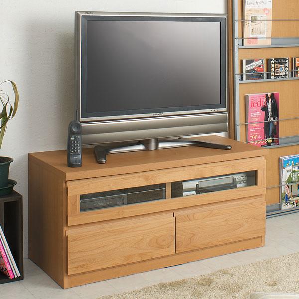 幅101cm 完成品天然木アルダー材テレビ台  ローボードTVボード 100幅ナチュラルTE-0003