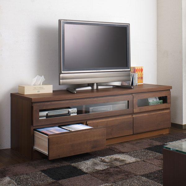 欠品中次回6月下旬入荷150幅 テレビ台完成品TVボード150幅 ダークブラウンTE-0006