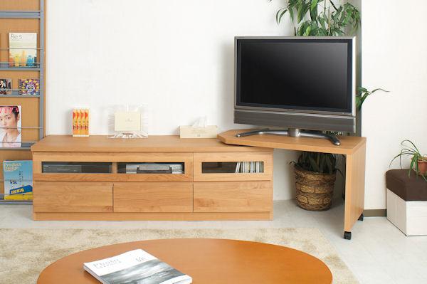 150幅回転盤付き TVボードナチュラルTE-0009