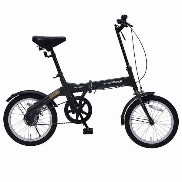 軽自動車にも積める新タイプ折り畳み自転車 16インチMyPallas マイパラスM-100 グリーン色