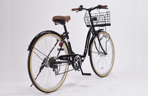 新商品4月下旬入荷26インチ 折り畳み自転車軽量設計 低床フレームMyPallas マイパラス6段変速付き シティサイクルM-509 PRINTEMPSブラック色