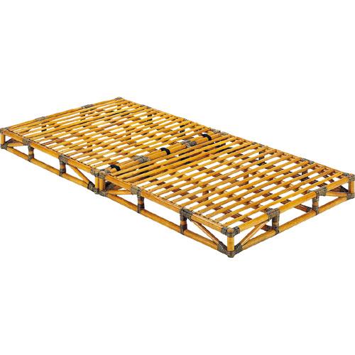 ベッドフレーム/シングル/籐すのこベッド/シングルサイズ (籐枕1個付) Y906 Y-906