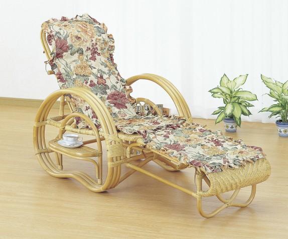 三つ折寝椅子 今枝商店 籐 ラタン 三つ折 リクライニング寝椅子 カバー付 A200M A-200M