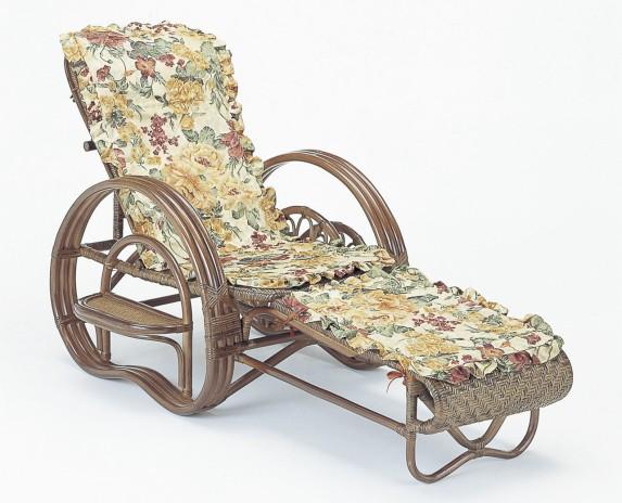三つ折寝椅子 今枝商店 籐 ラタン 三つ折 リクライニング寝椅子 ダークブラウン色タイプ カバー付 A202BM A-202BM