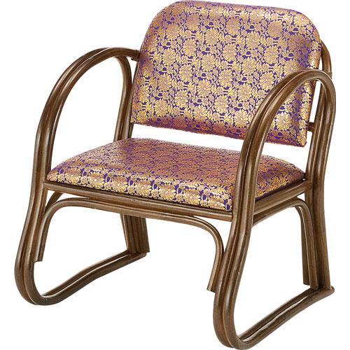 ご仏前椅子 イス 正座椅子 籐金襴思いやり座椅子 ハイタイプ S131B S-131B
