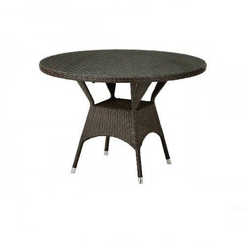 ガーデンテーブル/ダイニングテーブル/円形テーブル 人工ラタン製 単品 T881B T-881B