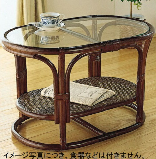 ガラステーブル/センターテーブル/テーブル 単品 T350B T-350B