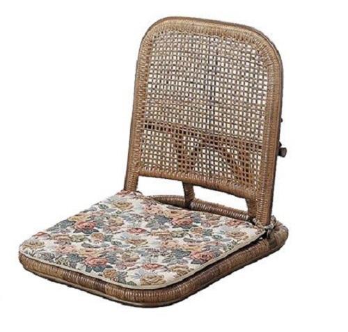 座椅子 今枝商店 籐家具 ラタン家具 座椅子 クッション付 S9B S-9B