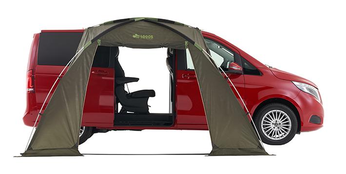 LOGOS ロゴス車中泊専用タープ 車カーサイドタープ テント(1BOX・ミニバン)車中泊 タープneos ALカーサイドオーニング AIカーサイドオーニング71805055