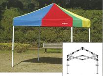 240×240センチ部品一体式クイックテント テントミスタークイックTA-22総アルミタイプ240×240センチ