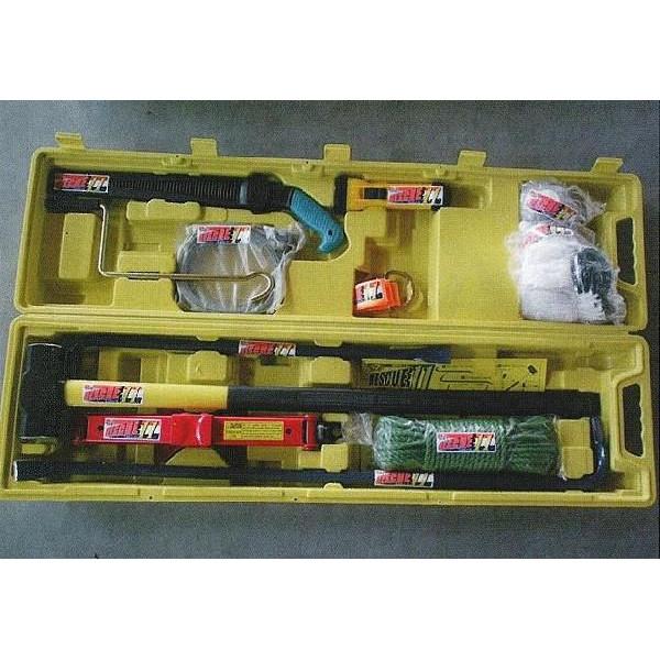 送料無料 防災セット キャスター付き レスキュー11 備えておきたい救助セット 11点セット