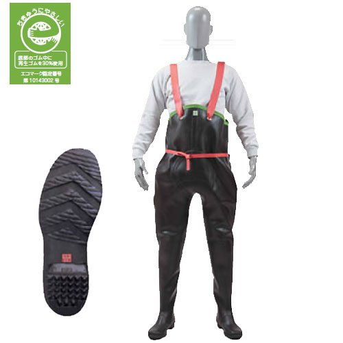 弘進ゴムゴム製品 胴付長紳士用レインブーツ 黒色特胴付長 K型A0001AI