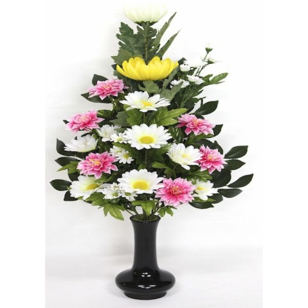 造花 お供花 仏花 お供え花 仏壇花 お仏壇用にびしゃく色 花添G 1本 K-0109 水上約45cm