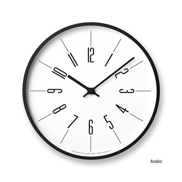 ポイント最大20倍!【Lemnos/レムノス】時計台の時計[電波時計]【おしゃれ お洒落 かわいい 可愛い 見やすい 掛け時計 音がしない 連続秒針 電波】