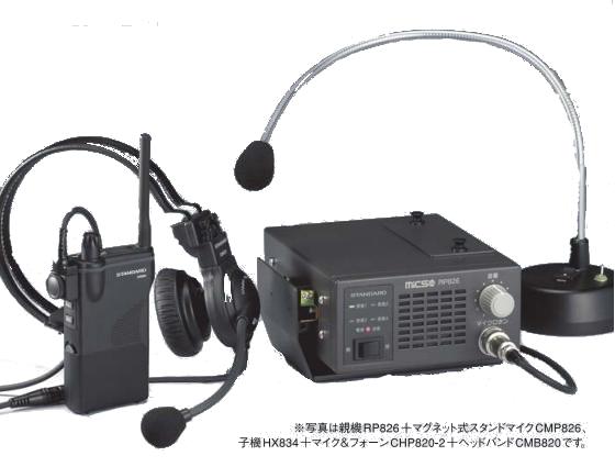 スタンダード 無線インカムシステム 作業用連絡通信システム MICS Lite 親機セット RP826