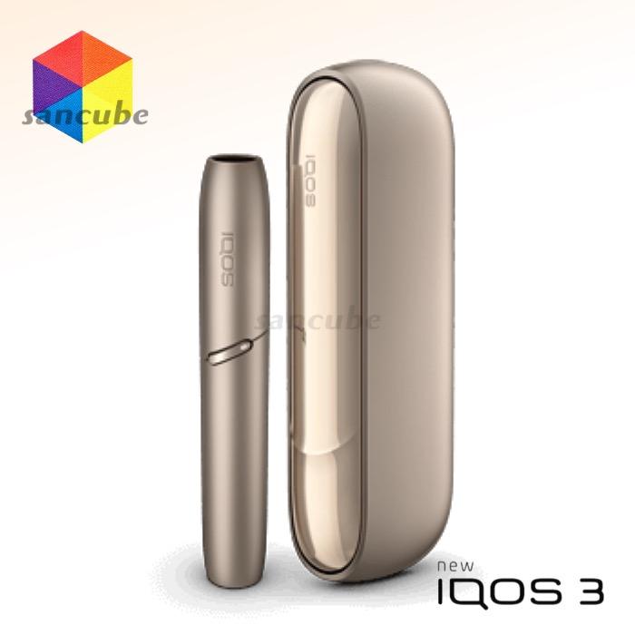 【新型アイコス iQOS3 アイコス3本体 ブリリアントゴールド】 進化した正統後継モデル「IQOS 3」《新品・正規品》コンパクト さらに、スタイリッシュ。電子タバコ あいこす たばこ