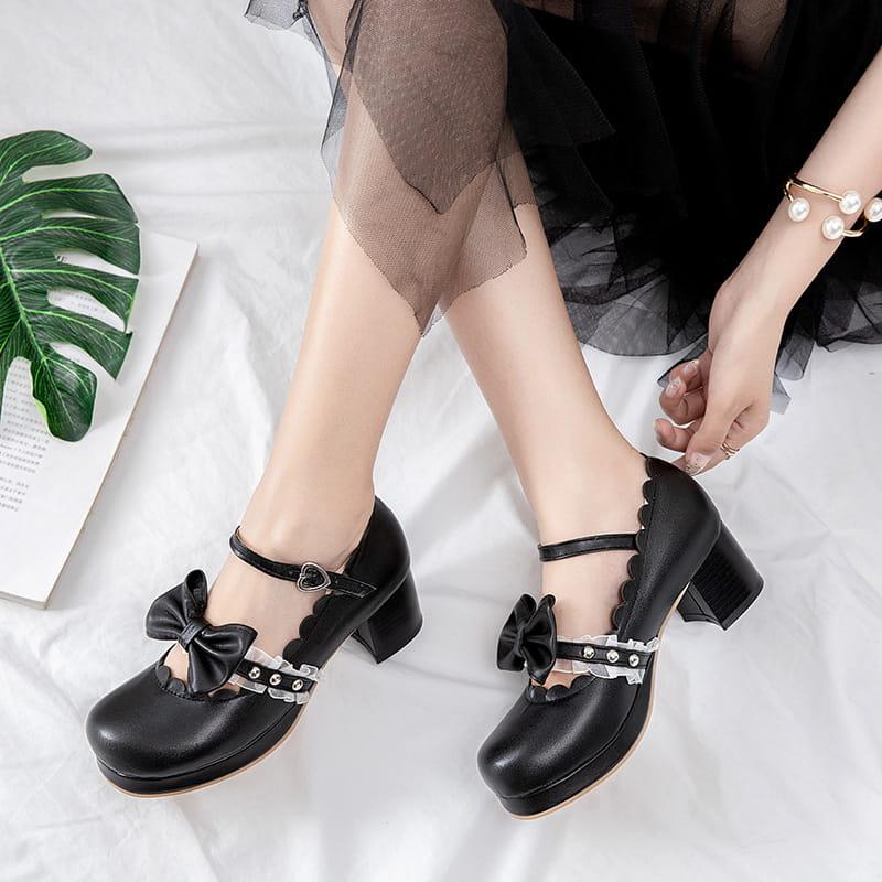ロリータ靴 メイド靴 女の子 リボン付き 35%OFF 豊富な品 パンプス ロリータ お嬢様 サイズ有20.0~28.0 大量注文にも対応しています シューズ 大きいサイズ