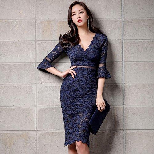 キャバ ドレス キャバドレス ワンピース 在庫あり ミニドレス ウエストライン 肌魅せ 高級感 送料無料でお届けします 胸元 レース ミニ丈 華やか 透け感 大人