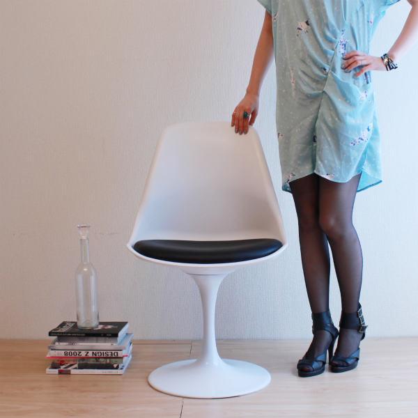 【選べる2色☆】【回転式】【デザイナー:エーロ・サ-リネン】商品名:Tulip Chair(チューリップチェア)【リプロダクト/復刻版】【椅子】【ダイニングチェア】【ラウンドチェア】【デザイナーズ家具】【】【通販】