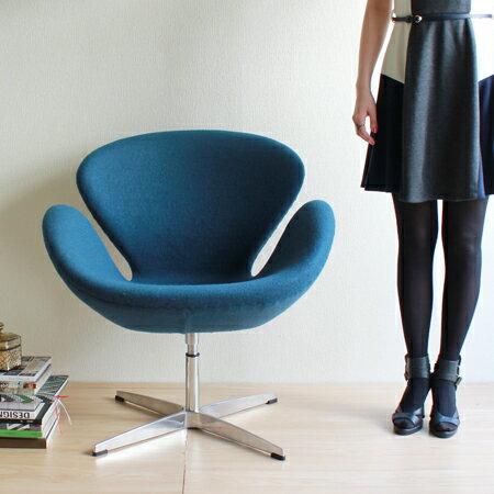 【選べる8色☆】【デザイナー:アルネ・ヤコブセン】商品名:SWAN chair(スワンチェア)プレミアム【リプロダクト・ジェネリック】【椅子】【ソファ】【アームチェア】【回転式】【デザイナーズ家具】【セブンチェア】【ファブリック】