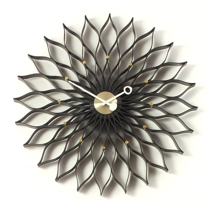 【正規ライセンス】【デザイナー:ジョージ・ネルソン】商品名: SUNFLOWER clock(サンフラワー・クロック)【ネルソンクロック】【大きい】【壁掛け】【時計】【オブジェ】【ミッドセンチュリー】【木製】【デザイン】