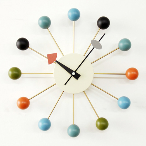 【正規ライセンス】【デザイナー:ジョージ・ネルソン】商品名:Ball clock(ボールクロック)【ネルソンクロック】【大きい】【壁掛け】【時計】【オブジェ】【ミッドセンチュリー】【木製】【デザイン】