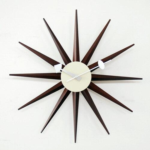 【正規ライセンス】【デザイナー:ジョージ・ネルソン】商品名: SUNBURST clock(サンバースト・クロック)【ネルソンクロック】【大きい】【壁掛け】【時計】【オブジェ】【ミッドセンチュリー】【木製】【デザイン】