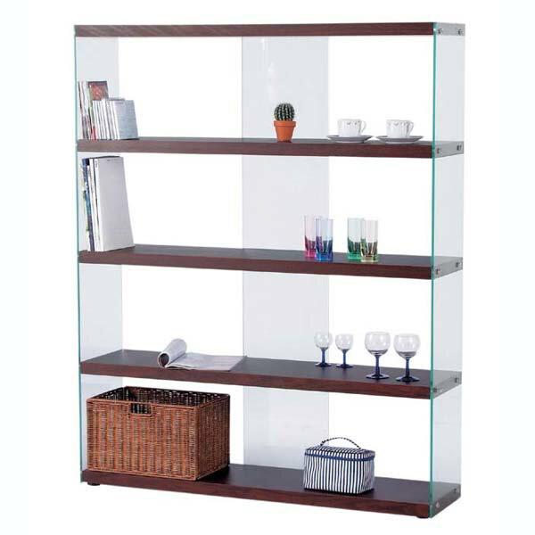 商品名:FLOAT グラスシェルフ - LL【本棚】【ブックシェルフ】【階段収納】【SHAB】【棚】【飾り棚】【ラック】【間仕切り】【食器棚】【木製】【ガラス】【】【通販】【625】