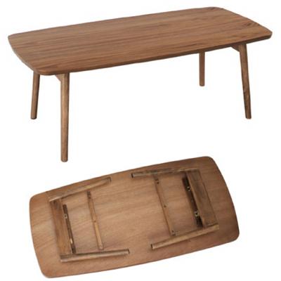 おしゃれ こんなの欲しかった コスパに優れた人気の家具シリーズです 高級感のあるウォールナットの色合いがお部屋の雰囲気をぐっとオシャレに 商品名:NORDIC フォールディングテーブル 折り畳み 木製 テーブル コーヒーテーブル 激安 STAC センターテーブル 一部予約 229 木目 通販