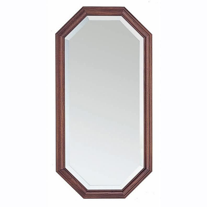 商品名:COTO 壁掛ミラー【木枠】【鏡】【壁掛け】【六角形】【木製】【ブラウン】【オーク材】【】【通販】