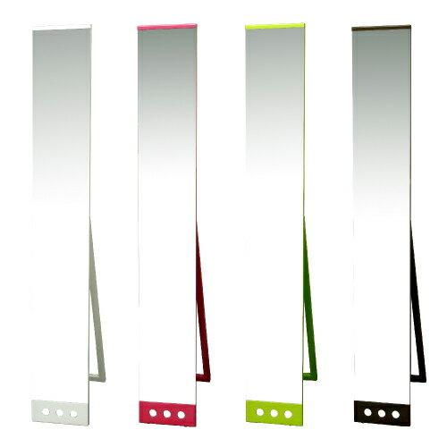 【選べる4色】【完成品でお届け】商品名:POP DOT スタンドミラー(22×1500)【新生活】【姿見】【全身ミラー】【鏡】【ピンク】【グリーン】【tokubai0525】