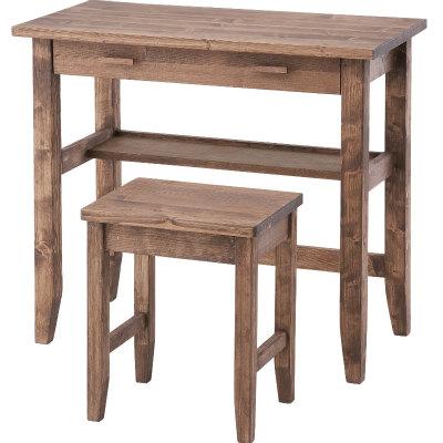 商品名:KOBLE デスク&スツール【アンティーク調】【木製デスク】【書斎】【ミニデスク 】【作業台 】【机 】【SCFS】【843】【インテリア】【木製フレーム】【】【通販】【木製】【シンプル】【PCデスク】