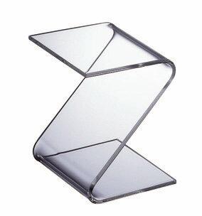 純粋無垢の透明感 シンプルで飽きないアクリルのテーブル リビングテーブル TV台 テレビ台 センターテーブル 北欧テイスト 最安値挑戦 新作入荷 日本製 UV加工 アクリル WAAZWIZ ワーズウィズ 商品名:Z-table デザイン 家具 軽い 透ける Z型 テーブル サイドテーブル クリア 通販 プラスチック ブランド 樹脂 透明