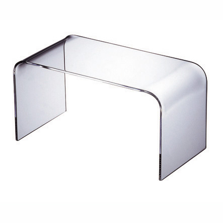 【日本製】【UV加工】【アクリル】WAAZWIZ(ワーズウィズ)商品名:Plain low table - S (コーヒーテーブル)【透明】【家具】【軽い】【デザイン】【テレビ台】【透ける】【プラスチック】【樹脂】【】【通販】