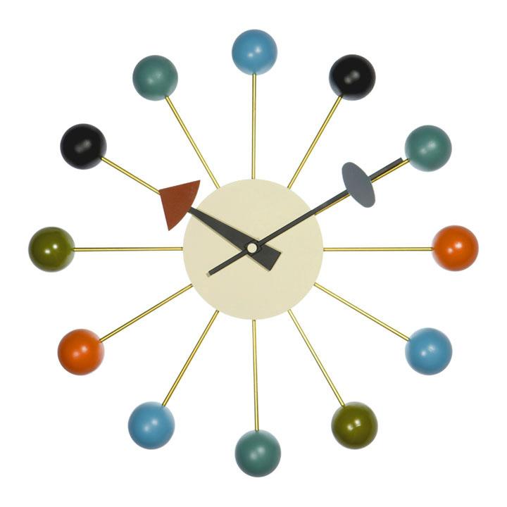 【デザイナー:ジョージ・ネルソン】商品名:Ball clock(ボール・クロック)【リプロダクト/復刻版】【壁掛け時計】【デザイナーズ】【有名時計】【カラフル】【ミッドセンチュリー】【おしゃれ時計】