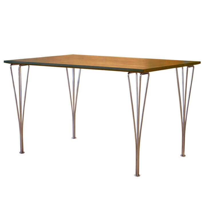 【デザイナー:アルネ・ヤコブセン】 商品名:スパンレッッグテーブル(120)ウォールナット材【ハイクラス・リプロダクト/復刻版/保証付き】【セブンチェア】【ステンレス】【テーブル】【木製】【長方形】【120cm】