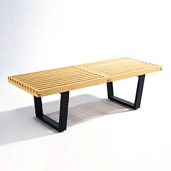 【デザイナー:ジョージ・ネルソン】商品名:Nelson Platform Bench(プラットフォームベンチ)【幅122cmタイプ】【ハイクラス・リプロダクト/復刻版/保証付き】【テーブル】【ガラス天板】【テレビ台】【ローボード】【ネルソンベンチ】