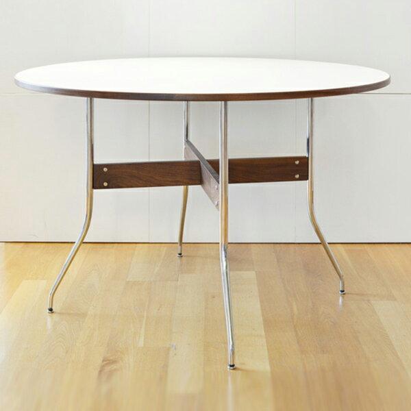 【デザイナー:ジョージ・ネルソン】商品名:スワッグレッグ(ラウンドテーブル)【ハイクラス・リプロダクト / 復刻版 / 保証付き】【ホワイト】【ブラック】【メラニン】【ダイニングテーブル】 【丸テーブル】【カフェ】【名作家具】