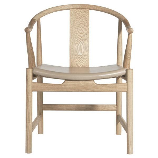 【デザイナー:ハンス・ウェグナー】 商品名:Chinese chair(チャイニーズチェア)レザー (牛本革)【ハイクラス・リプロダクト/復刻版/保証付き】【木製チェア】【ダイニングチェア】【Yチェア】【北欧】【牛革】【PP66】