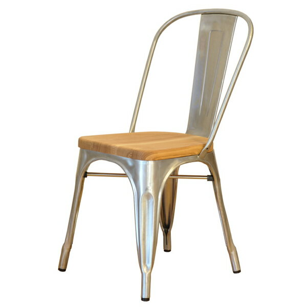 商品名:Marine chair(マリン・チェア)ウッドシート【デザイナー:グザビエ・ポシャール】【ハイクラス・リプロダクト / 復刻版 / 保証付き】【ダイニングチェア】【スチール】【鉄】【Aチェア】【スタッキング可】
