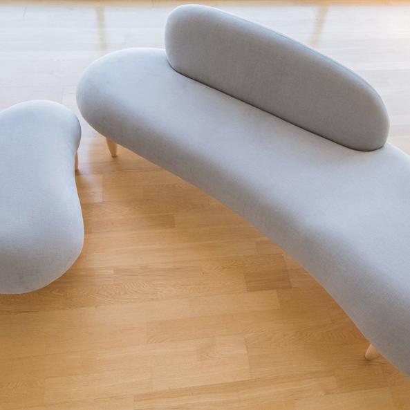 【デザイナー:イサム・ノグチ】 商品名:Free form sofa(フリーフォームソファ)ファブリック【ハイクラス・リプロダクト/復刻版/保証付き】【北欧】【布貼】【書斎】【ラウンジ】【エントランス】【セミオーダー】【デザイナーズ家具】