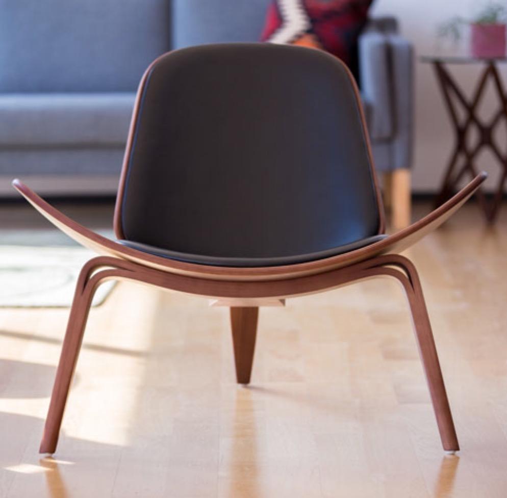 【デザイナー:ハンス・J・ウェグナー】 商品名:CH07 シェルチェア(CH07 Shell chair)レザー【ハイクラス・リプロダクト/復刻版/保証付き】【北欧】【ラウンジチェア】【セミオーダー】【デザイナーズ家具】